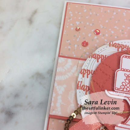 Piece of Cake avid birthday card, layering detail - from theartfulinker.com