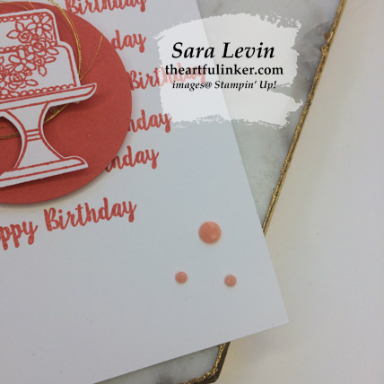 Piece of Cake clean and simple birthday card 1, embellishment detail - from theartfulinker.com