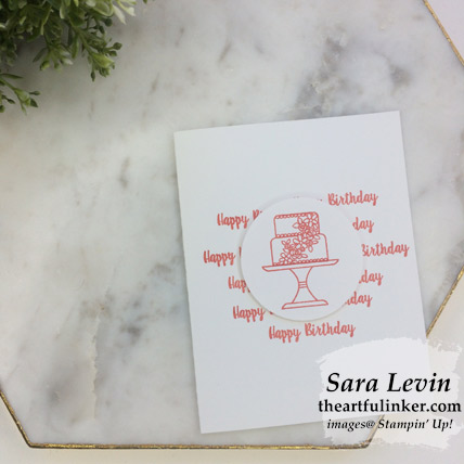 Piece of Cake #simplestamping birthday card - from theartfulinker.com