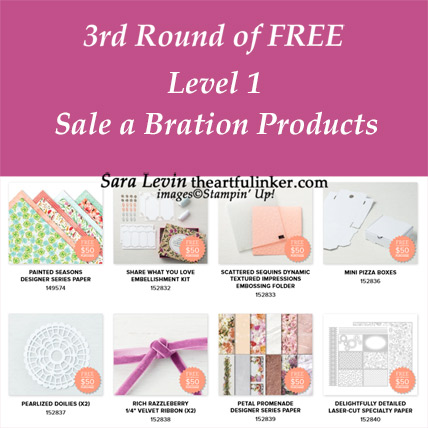 Round 3 of FREE Level 1 Sale a Bration Products from theartfulinker.com