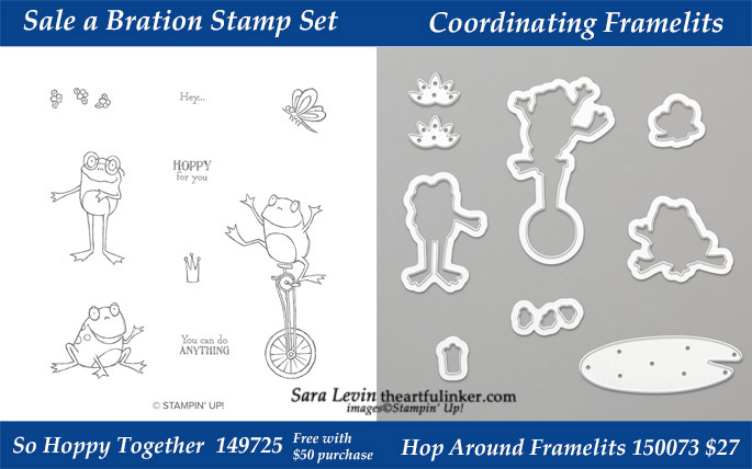 So Hoppy Together stamp set with coordinating Hop Around Framelits.  Available while supplies last during March 2019 from theartfulinker.com