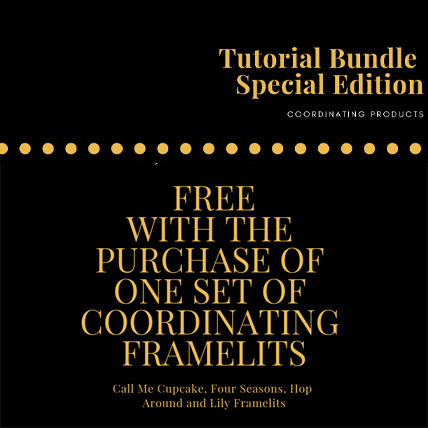 Special Edition Tutorial Bundle FREE with purchase of one of the March 2019 Coordinating Framelits from theartfulinker.com