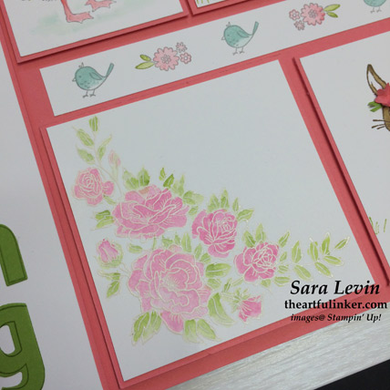 Spring Sampler Climbing Roses detail - from theartfulinker.com
