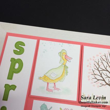 Spring Sampler Fable Friends duck detail - from theartfulinker.com