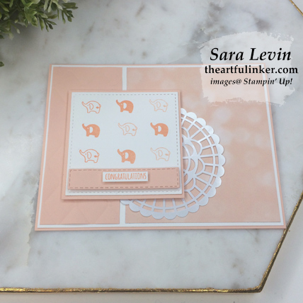 Learn how to make this Tabs for Everything GDP182 baby card with the free tutorial download from theartfulinker.com