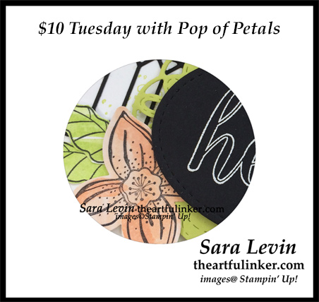 $10 Tuesday with Pop of Petals online card making class, sneak peek - from theartfulinker.com