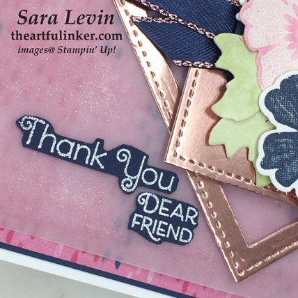 Everything is Rosy card 3, sentiment detail. SHOP - Order Stampin' Up! products online from theartfulinker.com