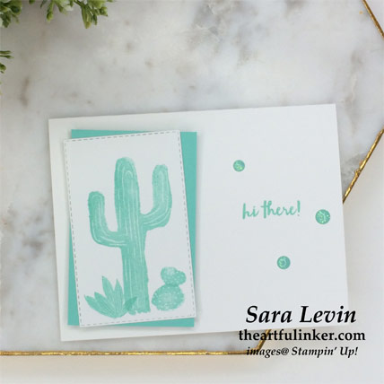 Flowering Desert casual card in Coastal Cabana from theartfulinker.com