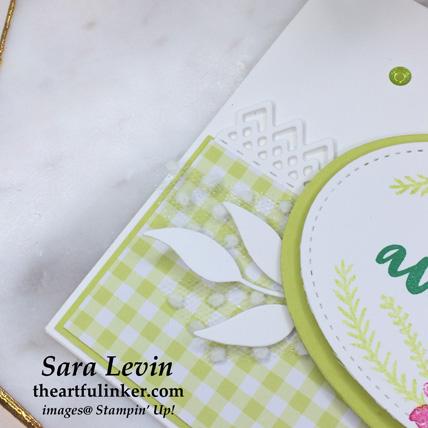 Flowering Desert with Gingham Gala avid card, embellishment detail - from theartfulinker.com
