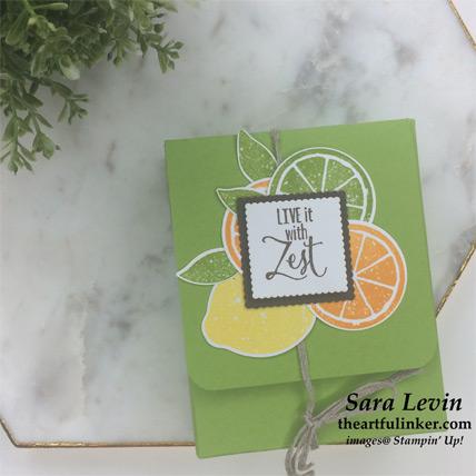 Lemon Zest farewell gift box, flat - from theartfulinker.com