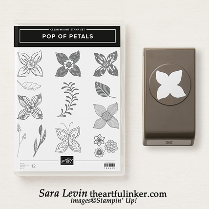 Pop of Petals Bundle includes the Pop of Petals stamp set and Four Petal punch.  When you purchas them as a bundle you save 10%