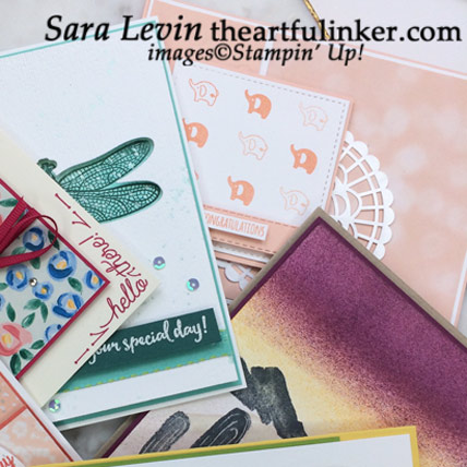 Purchase $50 in product in my store April 12 - 14 and receive 10 handmade cards from me, Sara Levin. Shop: www.theartfulinker.stampinup.net