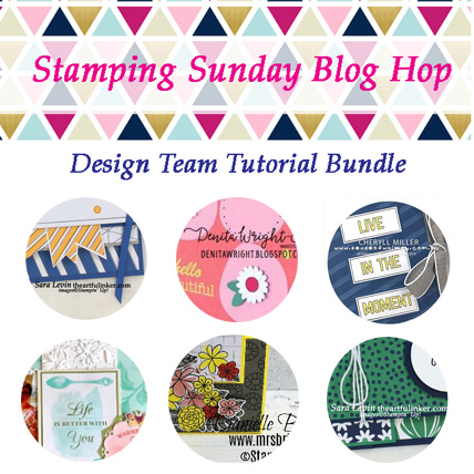 Stamping Sunday April 2019 Tutorial Bundle from theartfulinker.com