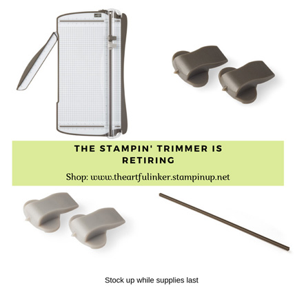 The Stampin' Trimmer and replacement parts are retiring!  Get the details at theartfulinker.com