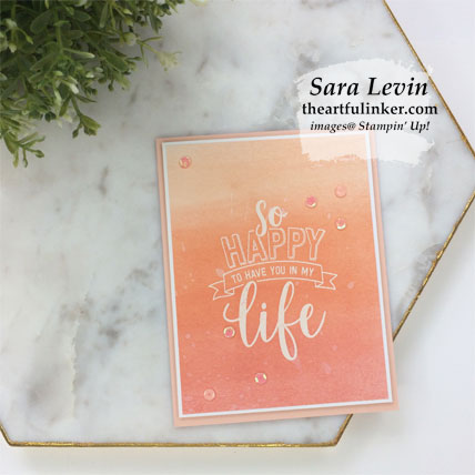 Learn how to make three Amazing Life ombre cards.  Shop for Stampin' Up! products at theartfulinker.com