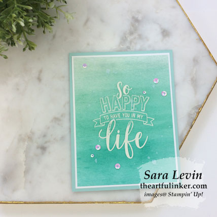 Learn how to make three Amazing Life ombre cards (blue). Shop for Stampin' Up! products at theartfulinker.com