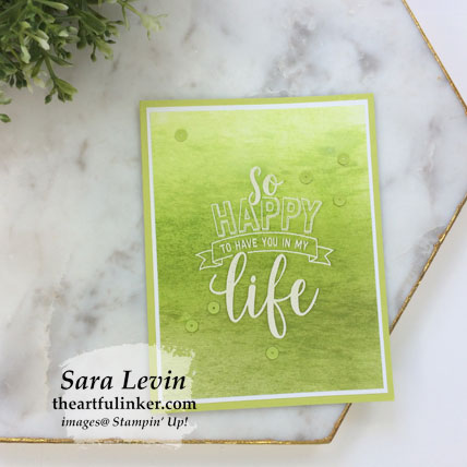 Learn how to make three Amazing Life ombre cards (textured ombre). Shop for Stampin' Up! products at theartfulinker.com