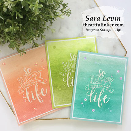Learn how to make these Amazing Life ombre cards. Shop for Stampin' Up! products at theartfulinker.com