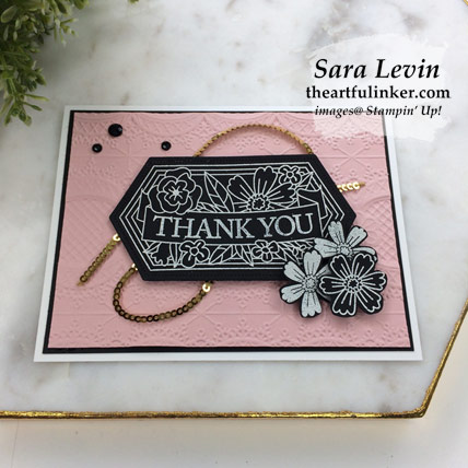 Believe You Can Sneak Peek Card, angled view. Shop for Stampin' Up! products at theartfulinker.com
