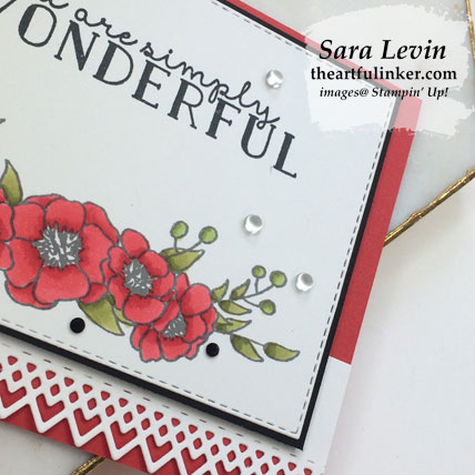 Bloom and Grow in Poppy Parade card, blends and embellishment detail. Shop for Stampin' Up! products at theartfulinker.com