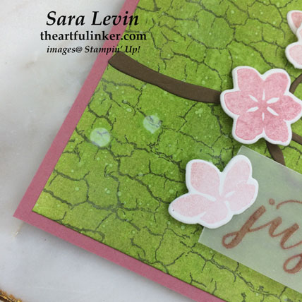 Colorful Seasons with Crackle Paint card, background detail. Shop for Stampin' Up! products at theartfulinker.com