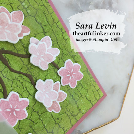 Colorful Seasons with Crackle Paint card, flower detail. Shop for Stampin' Up! products at theartfulinker.com