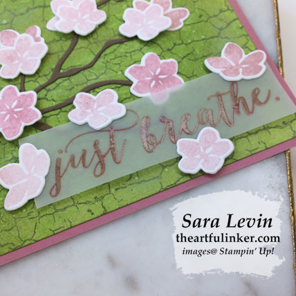 Colorful Seasons with Crackle Paint card, sentiment detail. Shop for Stampin' Up! products at theartfulinker.com