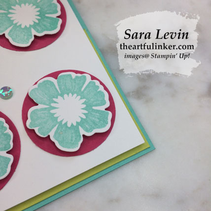 Everything is Rosy card 6, detail. Shop for Stampin' Up! products at theartfulinker.com