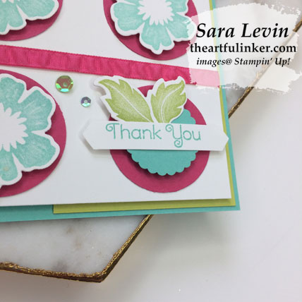 Everything is Rosy card 6, sentiment detail. Shop for Stampin' Up! products at theartfulinker.com