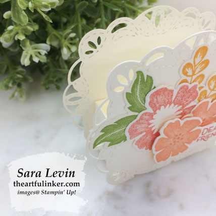 Everything is Rosy favor, side view. Shop for Stampin' Up! products at theartfulinker.com