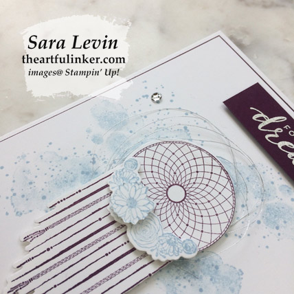 Learn how to make this Follow Your Dreams graduation card, dream catcher detail. Shop for Stampin' Up! products at theartfulinker.com