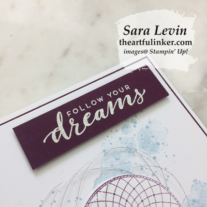 Learn how to make this Follow Your Dreams graduation card, sentiment detail. Shop for Stampin' Up! products at theartfulinker.com