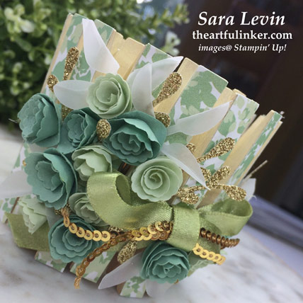Garden Lane votive holder for Home Decor, flower detail. Shop for Stampin' Up! products at theartfulinker.com   Home Decor SU Style Blog Hop May 2019