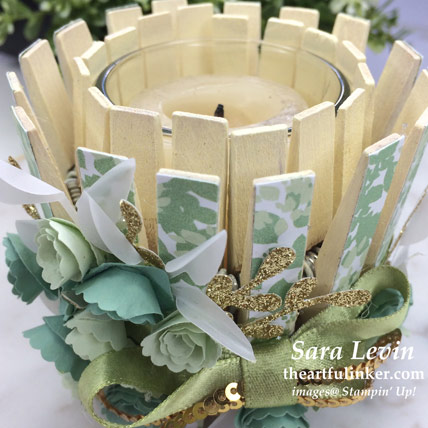 Garden Lane votive holder for Home Decor SU Style Blog Hop May 2019, top view. Shop for Stampin' Up! products at theartfulinker.com