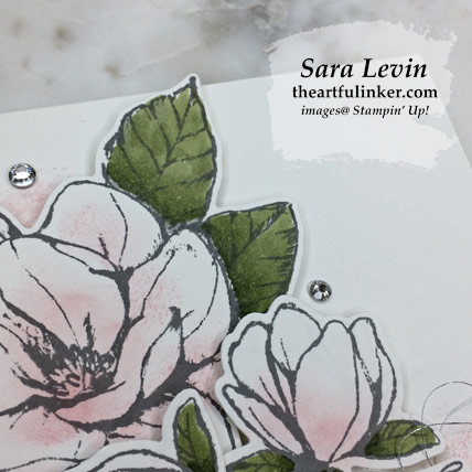 Good Morning Magnolia avid stamping clean and simple card, flower detail. Shop for Stampin' Up! products at theartfulinker.com