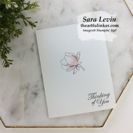 Good Morning Magnolia simple stamping card. Shop for Stampin' Up! products at theartfulinker.com