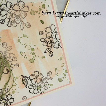 Hugs From Shelli Paper Pumpkin alternative card, background detail. Shop for Paper Pumpkin at theartfulinker.com