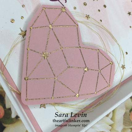 Little Twinkle Shadowbox Card, heart detail. Shop for Stampin' Up! products at theartfulinker.com