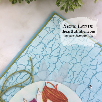 New Wonders with Crackle Paint card. Shop for Stampin' Up! products at theartfulinker.com
