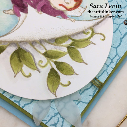 New Wonders with Crackle Paint card, leaf detail. Shop for Stampin' Up! products at the artfulinker.com
