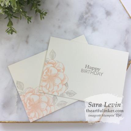 Sentimental Rose April 2019 Paper Pumpkin alternative card. #simplestamping Shop for Paper Pumpkin at theartfulinker.com Sara Levin Stampin' Up! demonstrator