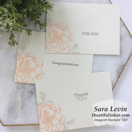 Sentimental Rose April 2019 Paper Pumpkin alternative cards. Shop for Paper Pumpkin at theartfulinker.com Sara Levin Stampin' Up! demonstrator