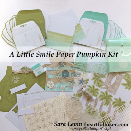 A Little Smile June 2019 Paper Pumpkin kit contents. Shop for Stampin Up products at theartfulinker.com