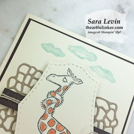 Back on Your Feet Three Ways, avid card giraffe detail. Shop for Stampin Up products at theartfulinker.com
