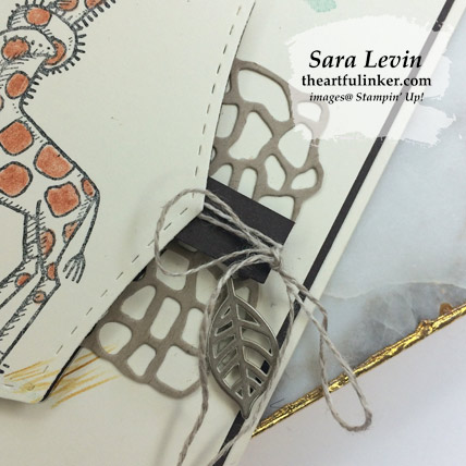 Back on Your Feet Three Ways, avid card embellishment detail.  Shop for Stampin Up products at theartfulinker.com