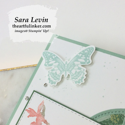 Butterfly Wishes with Garden Lane card, background detail. Shop for Stampin Up products at theartfulinker.com