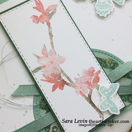 Butterfly Wishes with Garden Lane card, flower detail. Shop for Stampin Up products at theartfulinker.com