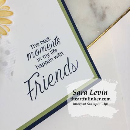 Learn how to make this Daisy Lane clean and simple card, sentiment detai. Shop for Stampin Up products at theartfulinker.com