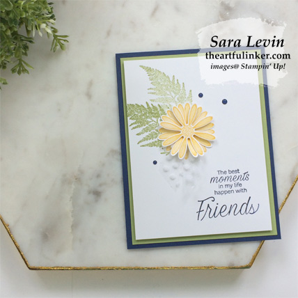 Learn how to make this Daisy Lane clean and simple card with a FREE tutorial download. Shop for Stampin Up products at theartfulinker.com