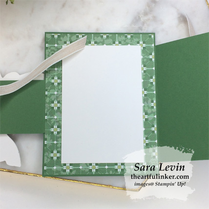 Good Morning Magnolia Flap Fold card, both flaps open. Shop for Stampin Up products at theartfulinker.com